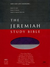 NKJV Jeremiah Study Bible, soft  leather-look, Indexed  purple/gray