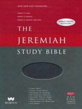 NKJV Jeremiah Study Bible, Large  Print, Imitation Leather, black