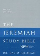 NIV Jeremiah Study Bible, hardcover - Slightly Imperfect