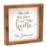 Personalized, Faux Wood Framed Sign, Home, White