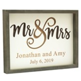 Personalized Carved Sign, Mr and Mrs, White