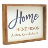 Personalized, Carved Framed Sign, Home, White