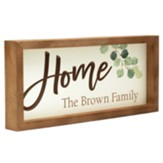 Personalized, Carved Framed Sign, Home, Family, White