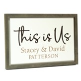 Personalized, Carved Framed Sign, This Is Us, White