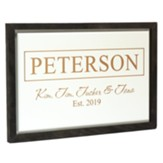 Personalized, Framed Sign, Family, White with Grey Frame