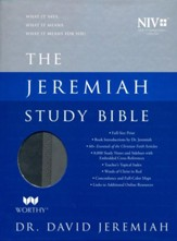 NIV Jeremiah Study Bible, Imitation Leather, gray indexed