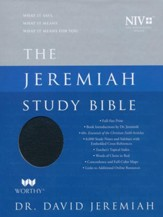 NIV Jeremiah Study Bible, Genuine Leather, black indexed