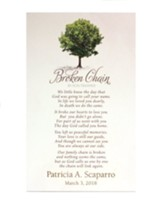 Personalized, Broken Chain Bereavement Plaque, Tree
