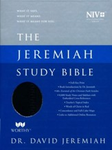 NIV Jeremiah Study Bible, Imitation Leather, black