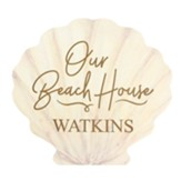 Personalized, Seashell Shape Sign, Beach House