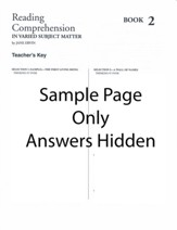 Reading Comprehension (in Varied Subject Matter) Book 2, Grade 4, Answer Key
