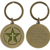 Star and Cross, Psalm 91:2, Keyring
