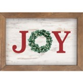 Joy, Wreath, Framed Art