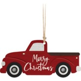 Merry Christmas, Truck, Gift Tag