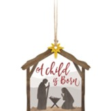 A Child is Born, Stable, Gift Tag