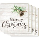 Merry Christmas Coasters, Set of 4