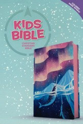 CSB Kids Bible--soft leather-look, ocean with narwhals
