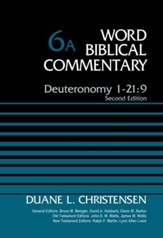 Deuteronomy 1-21:9, Volume 6A: Second Edition - eBook