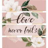 Love Never Fails Pallet Coaster