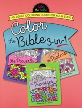 Color the Bible™ 3-in-1 Adult Coloring Book: Proverbs, Psalms, Promises of God - Slightly Imperfect