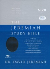 The NIV Jeremiah Study Bible Large Print, Black LeatherLuxe - Imperfectly Imprinted Bibles