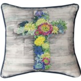 Succulent Cross Pillow