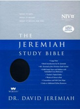 NIV Jeremiah Study Bible - Large Print - Indexed Imitation Leather, black