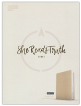 CSB She Reads Truth Bible--cloth  over board, champagne (indexed)