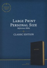 CSB Large-Print Personal-Size Reference Bible--soft leather-look, black