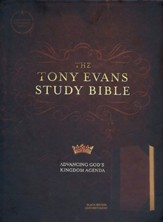 CSB Tony Evans Study Bible--soft  leather-look, black/brown