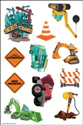 Concrete & Cranes: Theme Sticker Sheets (pkg. of 10)
