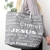 Names of Jesus, Large Tote Bag