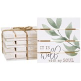 It Is Well With My Soul Pallet Coasters, Set of 4