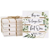 They Are No Longer Two But One Pallet Coasters, Set of 4