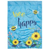 Bee Happy, Psalm 37:4, Flag, Small