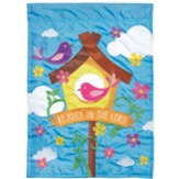 Birdhouse Rejoice in the Lord Flag, Small