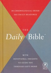 NLT Daily Bible, hardcover