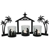Three Piece LED Candle Nativity Set
