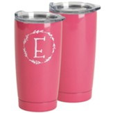 E Stainless Steel Tumbler, Pink