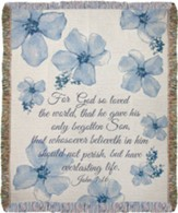 For God So Loved the World Tapestry Throw