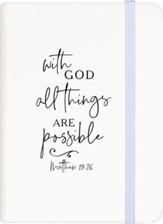 With God All Things Are Possible Notebook