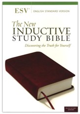 ESV New Inductive Study Bible--soft  leather-look, burgundy