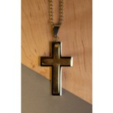 Swing Cross Necklace, Two-Tone