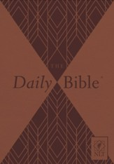 NLT Daily Bible--soft leather-look, brown - Slightly Imperfect