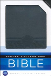 MEV Personal-Size Large-Print Bible-Imitation Leather, Charcoal