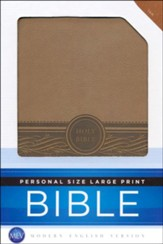 MEV Personal-Size Large-Print Bible-Imitation Leather, Tan  - Slightly Imperfect