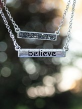 Believe Necklace and Earring Set