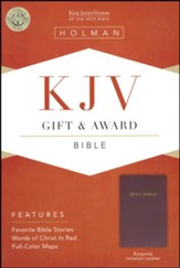 KJV Gift & Award Bible, Imitation leather, Burgundy  , B&H Books