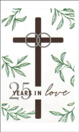 25 Years in Love, 25th Anniversary, Pocket Card Bookmark