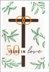 50 Years in Love, 50th Anniversary, Pocket Card Bookmark